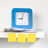 Clock and document Royalty Free Stock Images