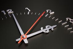 Clock with Dollar Sign. Time is Money- Concept Stock Illustration