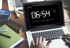 Clock Duration Time Leisure Hour Concept stock images