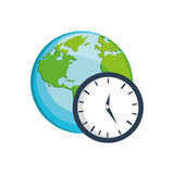 Clock earth time design Royalty Free Stock Image