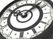 Clock. eight o'clock. Very beautiful three-dimensional illustration, figure. Clock. eight o'clock. 3d Stock Photography
