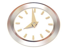 Clock. eight o'clock. 3d Very beautiful three-dimensional illustration, figure Stock Photo