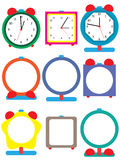Clock Element Set. Illustration clock elements set white background Royalty Free Stock Photo