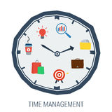 Clock with elements inside concept time management Stock Photography