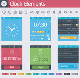 Clock elements Stock Photo