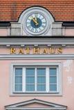 Clock on the facade Stock Photo
