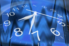 Clock Face. Close Up of Clock Face in Blue Tone royalty free stock images