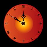 Clock face. Antique clock face isolated on black background illustration Royalty Free Stock Images