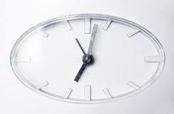 Clock face. White clock face. Modern clock Royalty Free Stock Photography