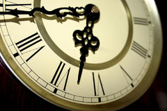Clock Face. A close up view of a clock Royalty Free Stock Photos