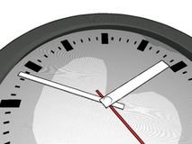 Clock face. Closeup illustration of a clock face Stock Images