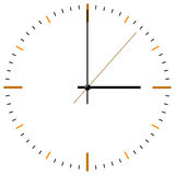 Clock-face. Analog clock-face isolated on white background stock illustration
