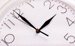 Clock face. Closeup of clock face. Three o'clock stock photo