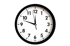 Clock face. Isolated on white background - time concept Stock Photo