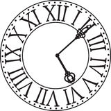 Clock face. Black-white antique clock face Royalty Free Stock Photography