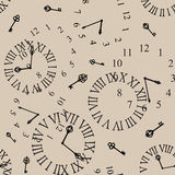 Clock face. Antique clock face seamless background Royalty Free Stock Photo
