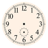 Clock face. Vector clipart / You can add your own hands to point to whatever time Royalty Free Stock Photos