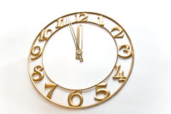 Clock-face. Five minutes to twelve royalty free stock photos