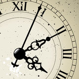 Clock Face. An antique clock face the whole face is available just hidden behind a mask Stock Photography