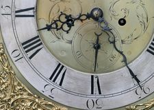 Clock Face. Detail of Grandfather Clock face Royalty Free Stock Image