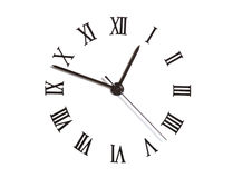 Clock-face. Clock dial with Arabic numerals on white Stock Images