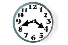 Clock face. Simple graphic illustration of a clock face set of centre of its backing vector illustration