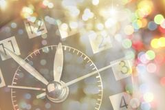Clock. Face and abstract background. New Year. Christmas Stock Photos