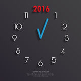 2016 Clock face Background.Vector/illustration. 2016 Clock face Background.Vector/illustration Stock Image