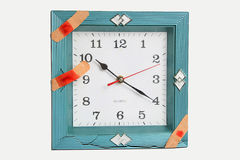 Clock face with bandages Stock Photos