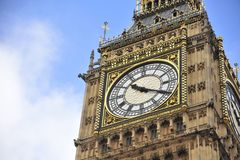 Clock face of Big Ben Royalty Free Stock Images