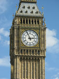 Clock Face of Big Ben. The clock face of Big Ben on the Palace of Westminster, London Stock Images