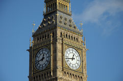 Clock face of Big Ben, Westminster Royalty Free Stock Images