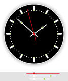 Clock Face Black Royalty Free Stock Image
