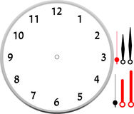 Clock face blank icon design. Stock Image