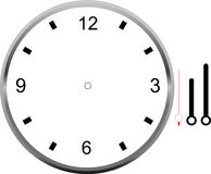 Clock face blank icon design. Royalty Free Stock Photo