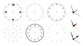 Free Clock Face Blank Isolated On White Background. Vector Clock Hands. Set For Watch Design Royalty Free Stock Image - 130208866
