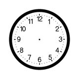 Clock face blank isolated on white background Royalty Free Stock Images