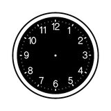 Clock face blank isolated on white background Stock Photo