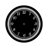 Clock face blank isolated on white background Stock Images