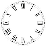 Clock face blank on white background - Vector illustration Stock Photography