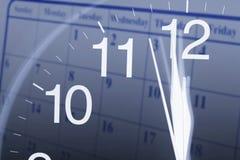 Clock Face and Calendar Royalty Free Stock Photo