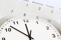 Clock and calendar. Clock face and calendar composite Royalty Free Stock Photo