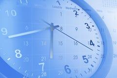 Clock and calendar Stock Image