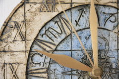 Clock face close-up Stock Photography