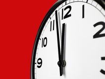 Clock Face. Close up clock face at 12 O'Clock royalty free stock photography