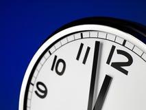 Clock Face. Close up clock face at 12 O'Clock royalty free stock photos
