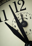 Clock face closeup at alarm time (Twelve o`clock) Royalty Free Stock Photography