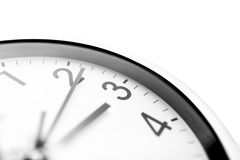 Clock face closeup Stock Photography