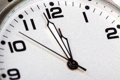 Clock face closeup Stock Photo