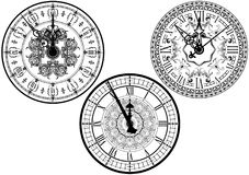 Clock Face Collection Royalty Free Stock Images